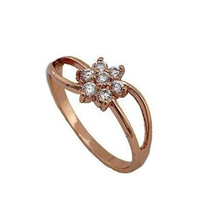 Jewelry - SWEET Rose Gold Filled CZ Flower Ring 😍